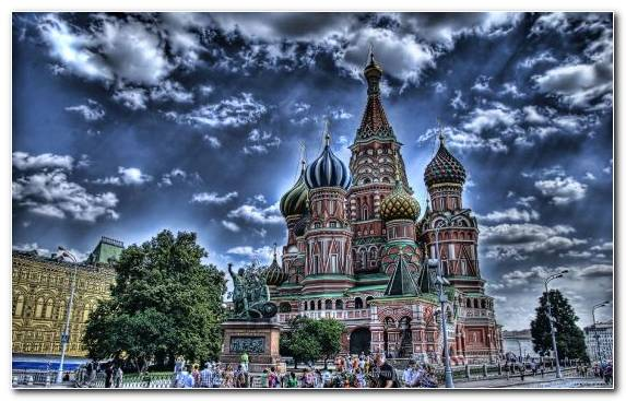 Image cityscape saint basils cathedral sky church building