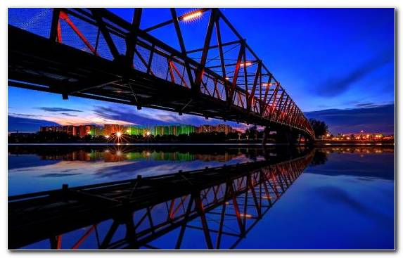 Image Cityscape Sky Waterway Reflection Bridge
