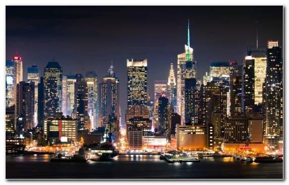 Image Cityscape Skyscraper Night Skyline Horizon