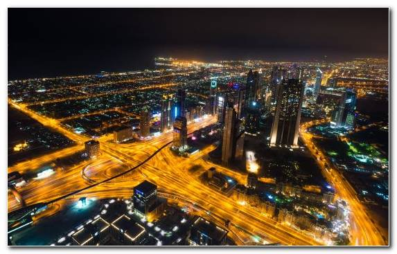 Image Cityscape Urban Area Burj Khalifa Birds Eye View Tower