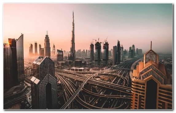 Image Cityscape Urban Area Burj Khalifa Skyscraper Sky