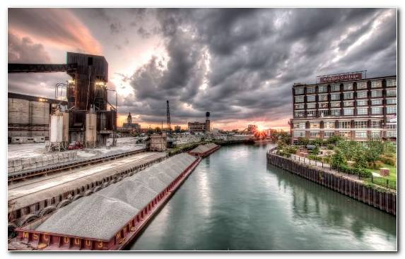 Image Cityscape Urban Area Chicago Sky Waterway