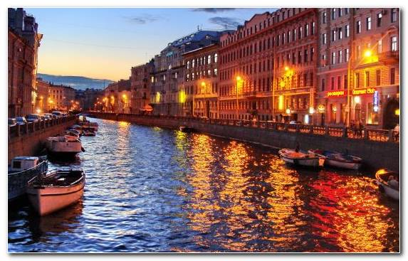 Image Cityscape Waterway Evening Reflection Water Transportation