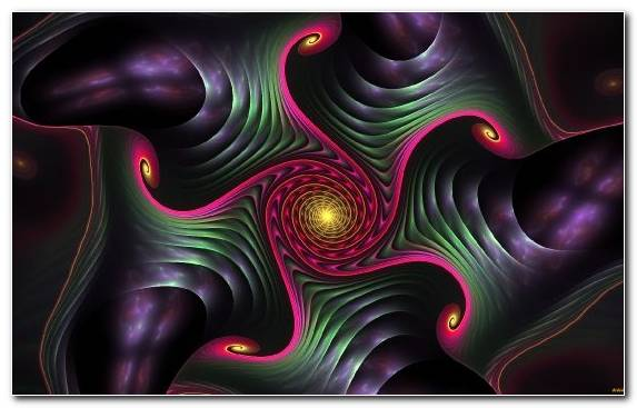 Image Close Up Art Fractal Pattern Purple
