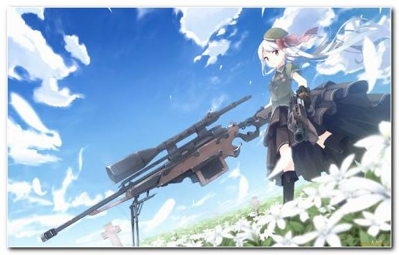 Image Cloud Rifle Manga Tree Sniper
