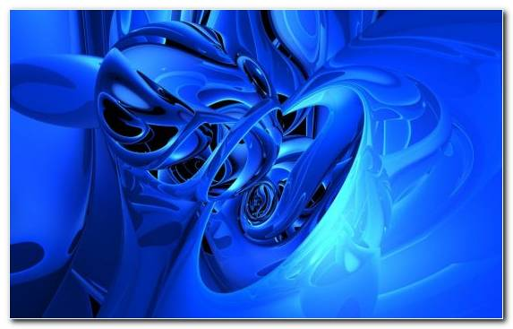 Image Cobalt Blue Fractal Art Electric Blue Macro Photography Blue