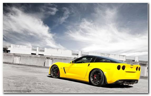 Image Corvette Sportscar Chevrolet Corvette Z06 Sports Car Yellow