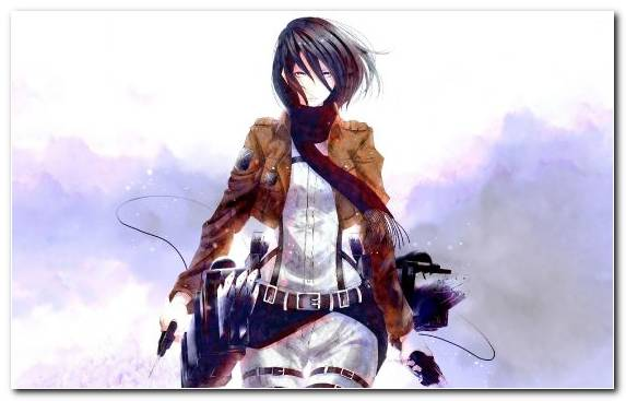 Image Creative Arts Attack On Titan Mikasa Ackerman Woman Warrior Illustration