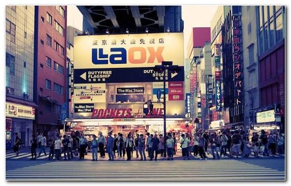 Image Crowd Street Metropolis Osaka Pedestrian