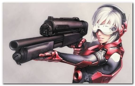 Image Cyborg Air Gun Firearm Batou Kusanagi