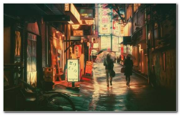Image Darkness Evening Alley Tokyo Night