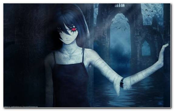 Image Darkness Horror Girl Anime Shiki