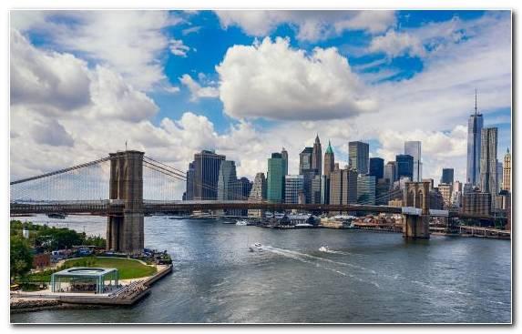 Image Day Mural Bridge Lower Manhattan Landmark