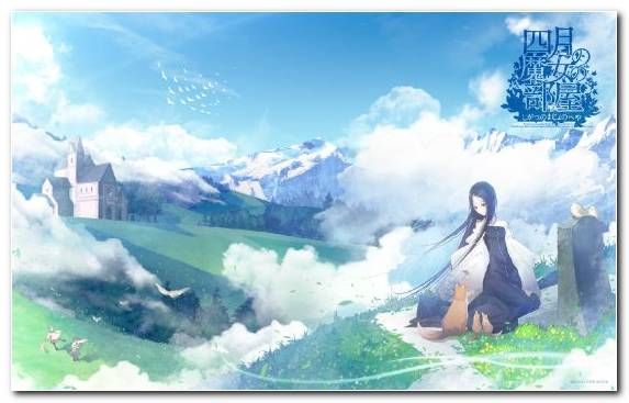Image daytime anime hill station nature saber
