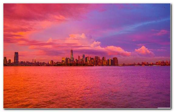 Image Daytime Horizon Sunset Cityscape City