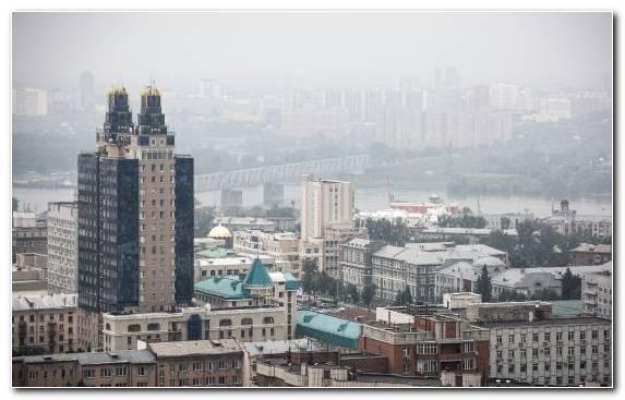 Image Daytime Siberia Town Sky Skyscraper