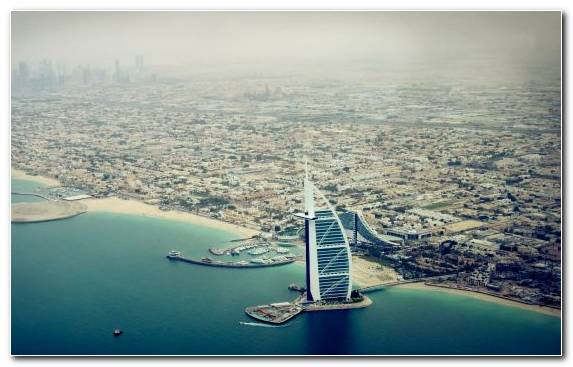 Image Daytime Water Birds Eye View Dubai Marina Day