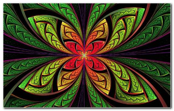 Image Design Symmetry Fractal Art Multicolored Bright