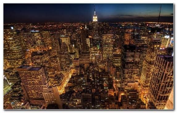 Image Downtown Creative Arts Night Empire State Building Cityscape