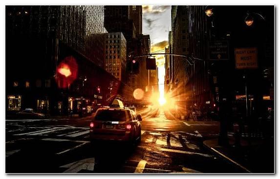 Image Downtown Urban Area Sunrise New York City Metropolis