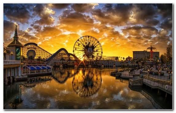 Image dusk evening cityscape twilight disneys california adventure
