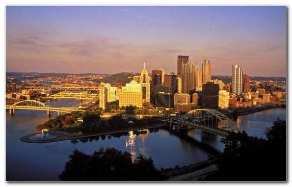 Image Dusk University Duquesne Incline Downtown Business