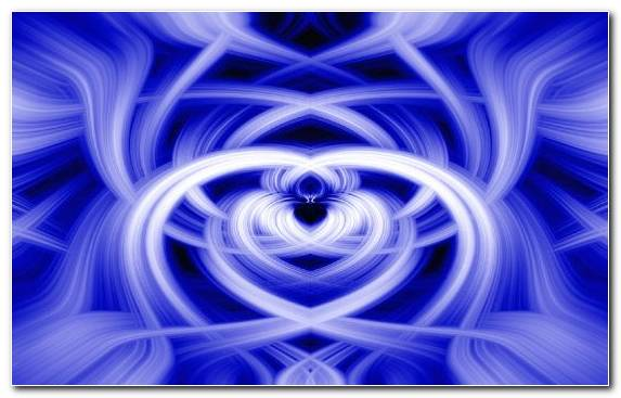 Image Electric Blue Circle Purple Blue Fractal Art