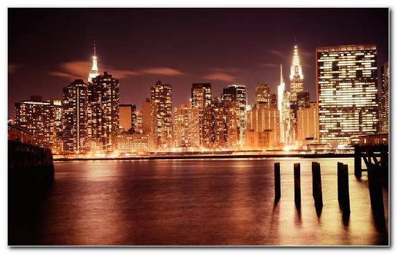Image Empire State Building Capital City Horizon Chrysler Building Cityscape