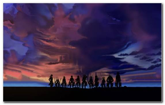 Image Eren Yeager Twilight Sky Mikasa Ackerman Sunset