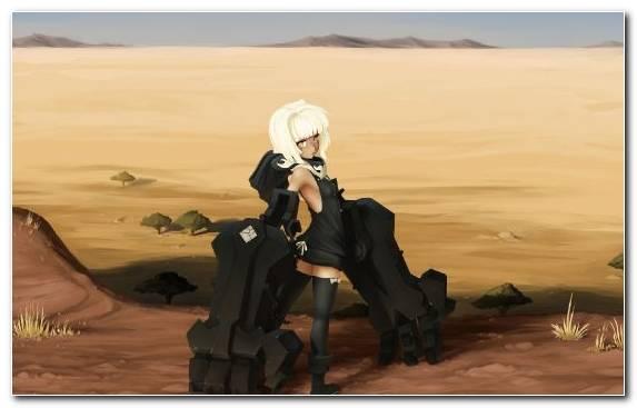Image Erg Girl Sahara Aeolian Landform Blonde