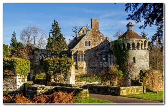 Image Estate Farmhouse Manor House Medieval Architecture Cottage