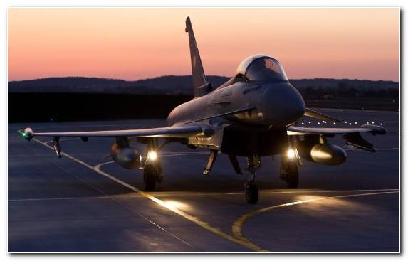 Image Eurofighter Typhoon Aviation Fighter Aircraft Air Force Airplane
