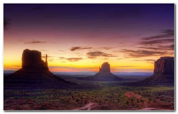 Image Evening Ecosystem Desert Butte United States Of America