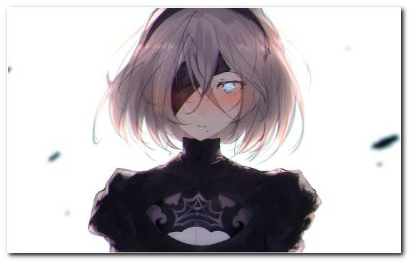 Image Eye Game Girl Nier Automata Hime Cut