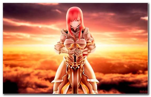 Image Fairy Tail Sky Happy Erza Scarlet Anime