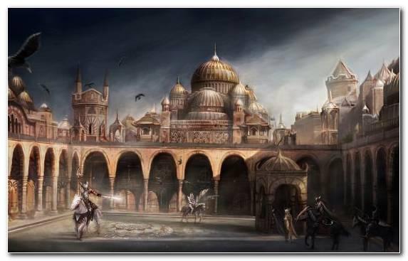 Image Fantasy Landmark Basilica Tourist Attraction Fantastic Art