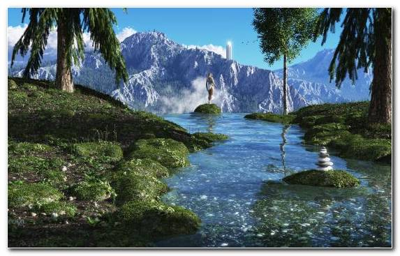 Image Fantasy Painting Water Resources Watercourse World