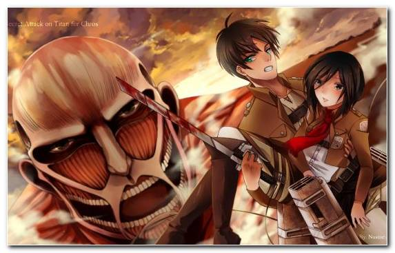 Image Fiction Eren Yeager Long Hair Levi Mikasa Ackerman