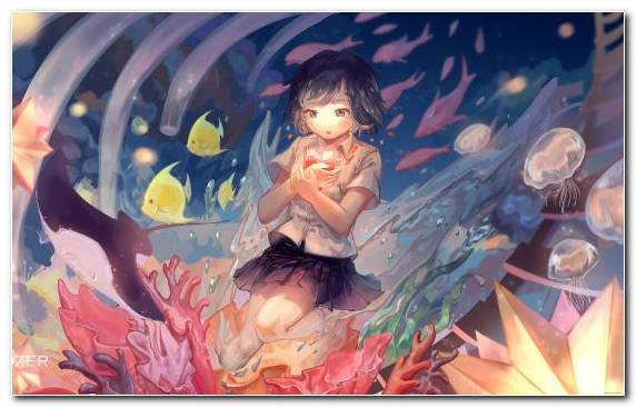 Image Fictional Character Graphics Catgirl Underwater Girl