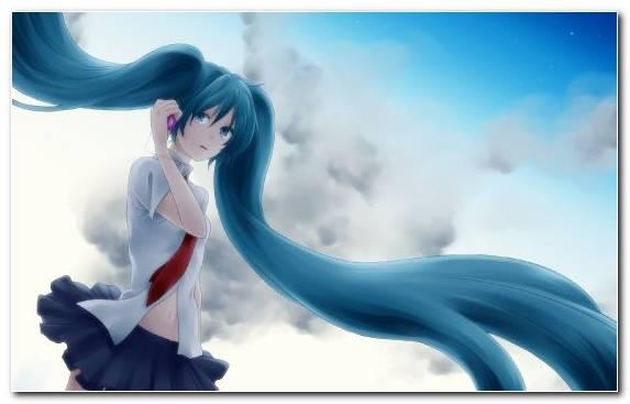 Image Fictional Character Sky Anime Vocaloid Hatsune Miku