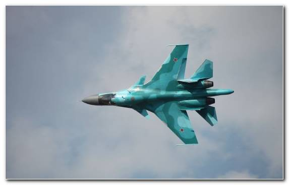 Image Fighter Aircraft Jet Aircraft Sukhoi Su 34 Air Force Sukhoi