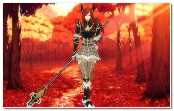 Image flame red fairy tail demon erza scarlet