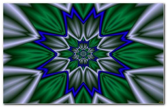 Image Flora Electric Blue Symmetry Abstraction Graphics