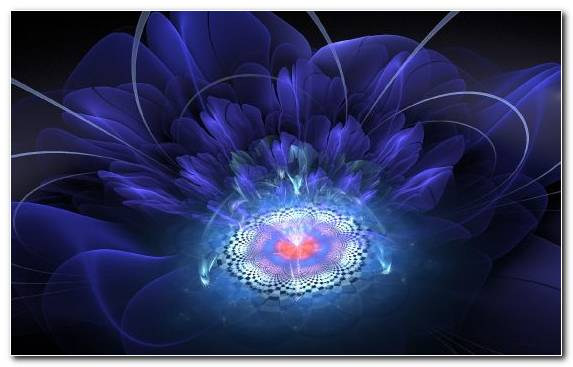 Image Flower Fractal Art Blue Light Android