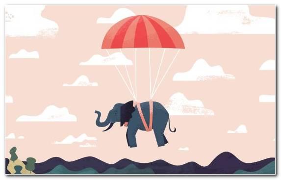 Image Font Elephant Parasailing Mammal Sky
