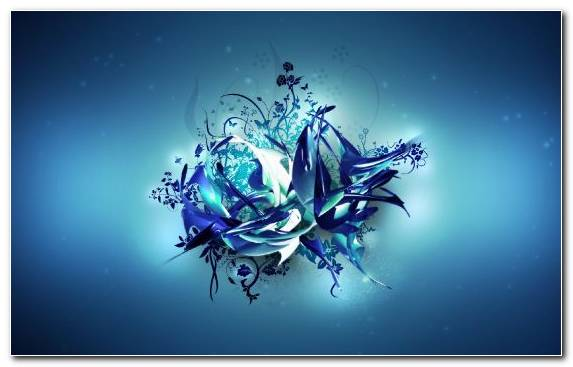 Image Font Fractal Art 3d Computer Graphics Underwater Blue
