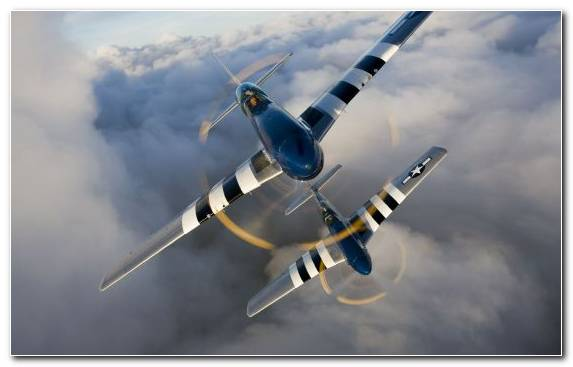 Image Ford Mustang Fighter Aircraft Aerospace Engineering Flight Propeller