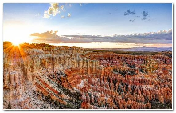 Image Formation Desert Bryce Canyon City Sky Morning