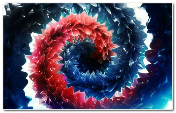 Image fractal art electric blue graphics red and blue 3d film