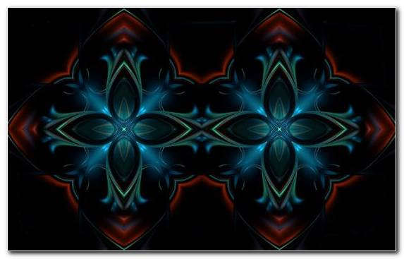 Image Fractal Art Electric Blue Kaleidoscope Blue Electrical Symmetry
